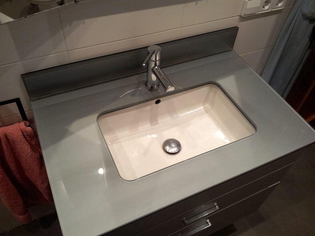 lavabo baño cristal