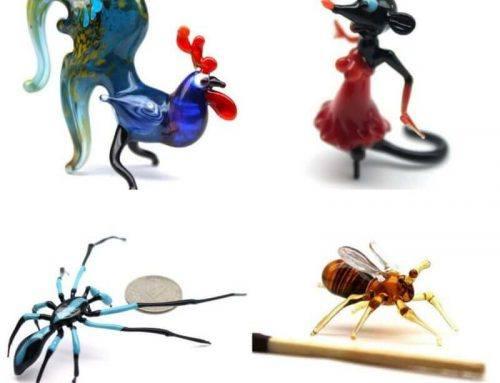 Criaturas de cristal personalizadas, la destreza máxima con el vidrio