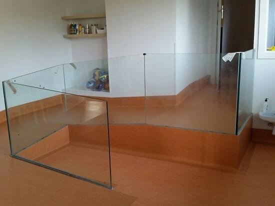 barandilla vidrio guardería