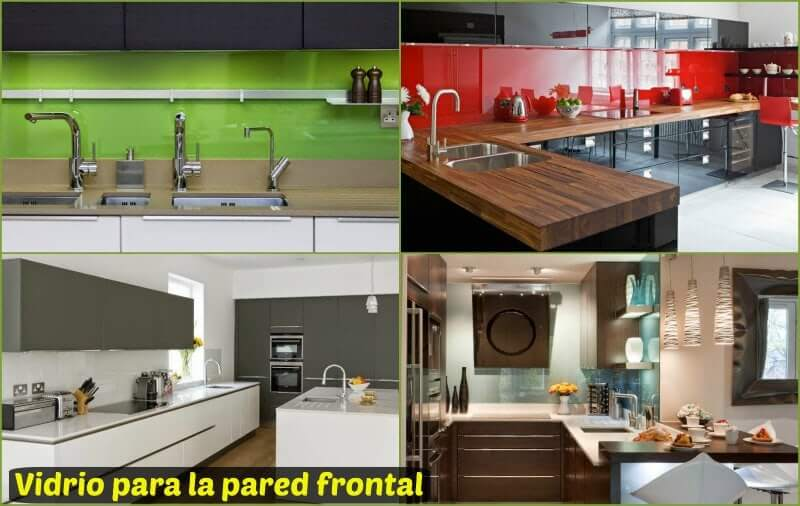 Soluciones de vidrio templado para encimera y pared for Panel frontal cocina