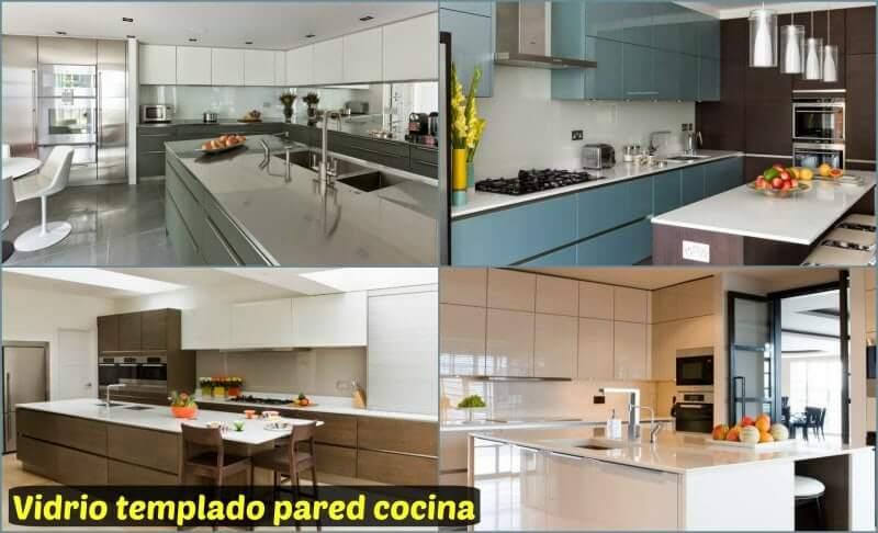Paneles frontales para cocinas affordable de cristal para - Cristal templado cocina precio ...