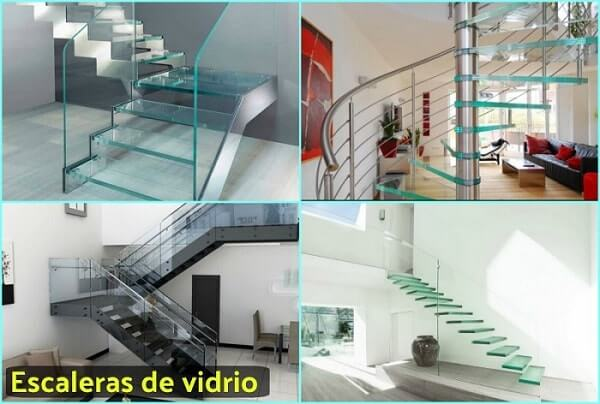 escaleras con vidrio