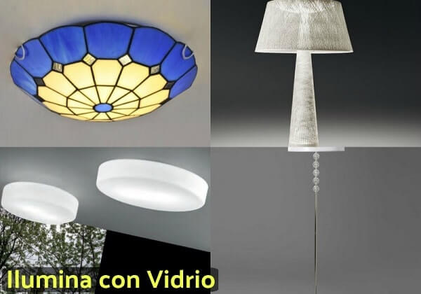 lámparas con vidrio