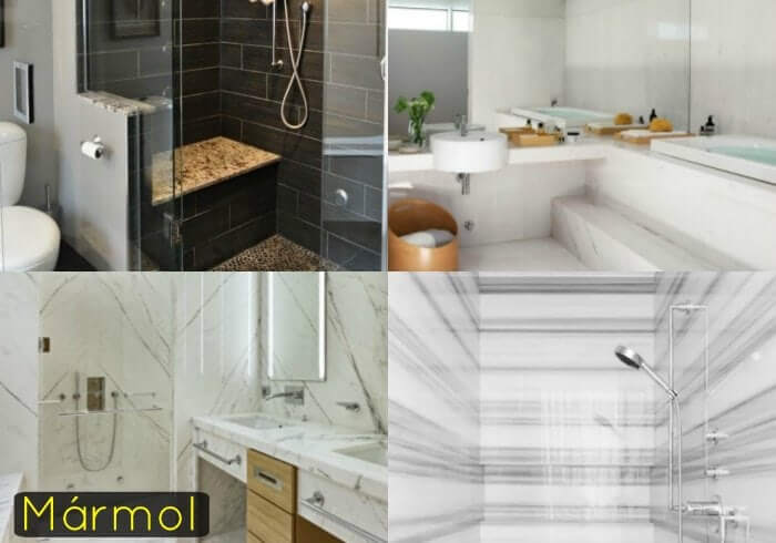 marmol en el baño