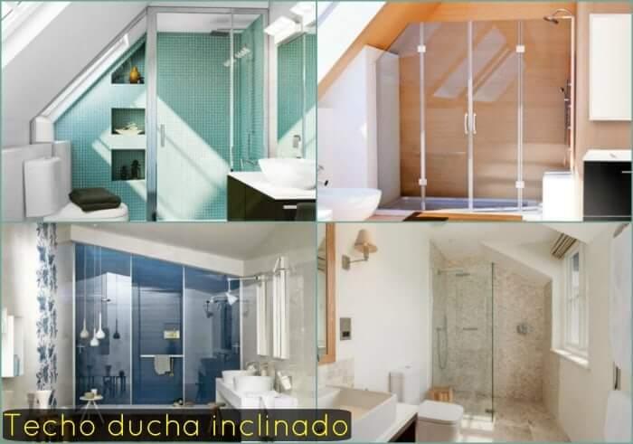 techo inclinado baño
