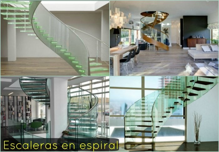 escaleras forma espiral