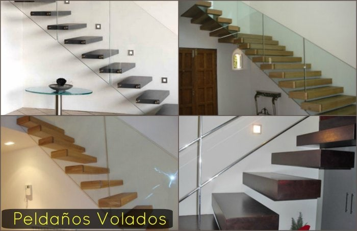 escalera flotante con cristal